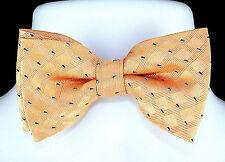 Peach Print Mens Bow Tie Adjustable Prom Tuxedo Wedding Fashion Dress Bowtie