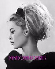 BRIGITTE BARDOT 8x10 Lab Photo 1960s Elegant Profile Grace, Fur Style Portrait