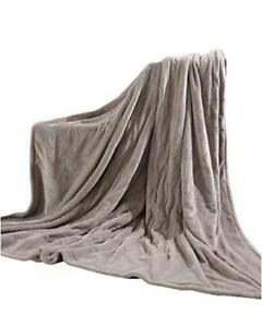 """MaxKare Electric Blanket Heated Throw 72"""" x 84"""" Oversized Flannel, Linen, Size"""