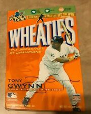Tony Gwynn AUTOGRAPHED SIGNED Full Wheaties Box San Diego Padres
