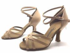 Chaussure de danse de salon pour femme:daimant couleur: beige