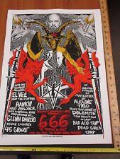Rock Roll Concert Poster Alkaline Trio Glenn Danzig Hank 3 Print Mafia SN LE#125