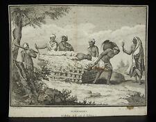 Funérailles indiens secte Vichnou Indian funeral sect Vichnu Vishnou print XVIII