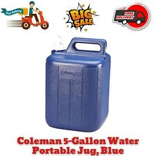 New listing 5Gal Water Carrier Jug Coleman Fishing Plastic Container Camping Hiking Blue (T)