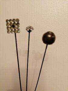 Victorian Hat Pins x 3