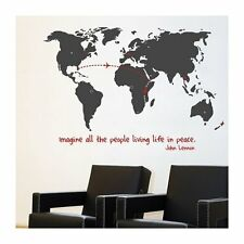 Mia & Co. World Monde Wall Map of the World GIANT Peel & Stick Wall Decal Mural
