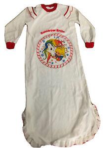 Rainbow Brite Girl's Vintage Night Gown Logo 1983 Hallmark