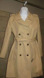 J. Crew woman's 8 petite Tan Trench coat, EUC