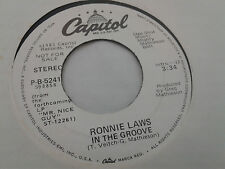 Ronnie Laws 45 In the Groove Capitol Promo 5241 Modern Soul Funk VG++