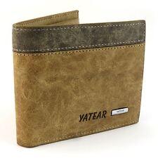 Para Hombre De Lujo suave de calidad de cuero cartera crédito tarjeta titular Cartera Marrón ventana ID