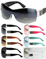 New WB Womens Shield Wrap Around Sunglasses Fashion Designer Shades Multi Colors