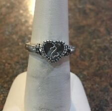 Kay Open Heart Chocolate And White Diamond Ring Sz 6.75