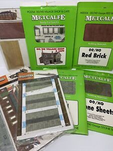 Joblot Of Card OO Kits Metcalfe Superquick Country Station Village Shop Etc GC