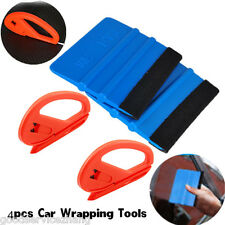 Useful Safety Vinyl Cutter & Edge Squeegee 4 pcs Car Wrapping Tools