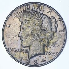 Early - 1934-S - Peace Silver Dollar - 90% US Coin *702