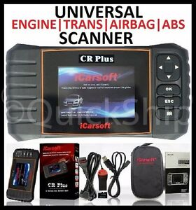 UNIVERSAL Diagnostic Scanner Tool SRS ABS ENGINE TRANSMISSION iCarsoft CR PLUS