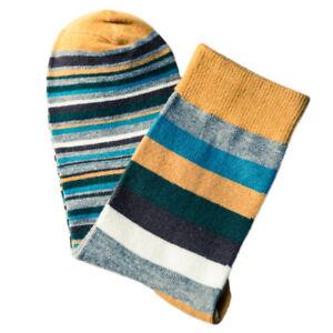 Men's Designer Fashion Dress Socks Multi Fashion Color Casual Striped Style