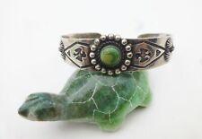 Southwestern Sterling Silver Turquoise Flower Bird Arrow Cuff Pattern Bracelet