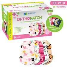 Infants Extra Sensitive Adhesive Eye Patch Girls 100 Pack Series I OPTHOPATCH