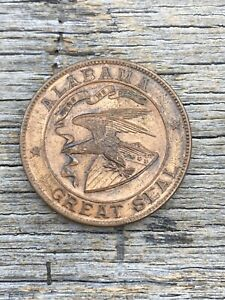 1915 So Called Dollar Panama Pacific Int'l Exposition Bronze Alabama Medal Coin