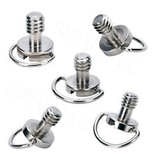 5X Captive Screw 1/4 Inch with Folding D-Ring for Camera Quick Release Plate