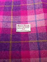 Harris Tweed Fabric & labels 100% wool Pink check - ideal for craft