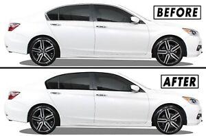 Chrome Delete Blackout Overlay for 2013-17 Honda Accord Sedan Window Trim