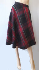 Vintage 60s 70s Wool Plaid Full Swing Skirt Rockabilly xxxs 22.5 Waist