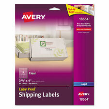 Avery Clear Easy Peel Mailing Labels Inkjet 3 13 X 4 60pack 18664