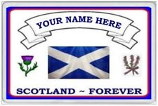 SCOTLAND FOREVER - PERSONALISED JUMBO FRIDGE MAGNET - SCOTS IRELAND SCOTTISH