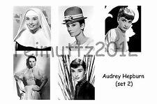 AUDREY HEPBURN - SET OF 5 LARGE PHOTO PRINTS # 2