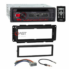 Pioneer CD USB Android Stereo Din Dash Kit Harness for 02+ Chrysler Dodge Jeep