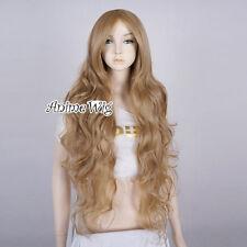 Curly Dark Blonde 85CM Long Basic Anime Cosplay Women Girl Heat Resistant Wig