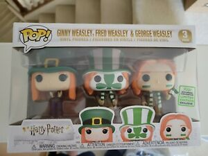 Funko POP! Harry Potter Ginny Fred George Weasley 2019 ECCC Exclusive 3 Pack