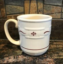 Longaberger Woven Traditions Traditonal Red Coffee Mug/Cup Made in the Usa