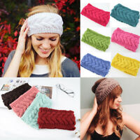 Stretch Knitting Headband for Women Wool Crochet Hairband Wide Bandana Turbans