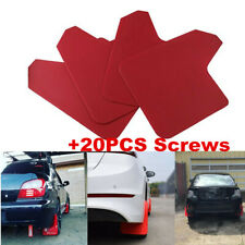 Car ABS Red Mudflaps Mud Flaps Set of 4 Front Rear Splash Guards Trim Mouldings