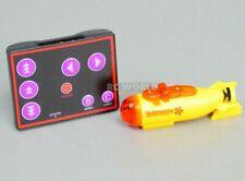 Remote Control RC Micro SUBMARINE MINI RC SUB RC Toy + Extra Batteries Yellow