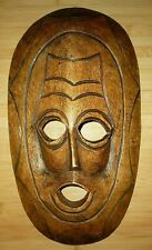 Hand Carved Crafted Wooden African Tribal Mask Wall Hanging...41.5 cm