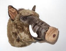 Neuware großer Wildschwein Eber Kopf Trophäe Plüschtrophäe ca. 27x30cm 40cm tief
