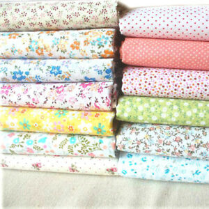 Cotton Floral Fabric Tablecloth Retro Country Flower Dress Quilting Patchwork