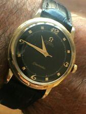 Omega Seamaster 1952 BLACK FACE ORO 14K GF CAL 351 splendide Rare Vintage Watch