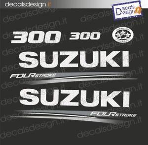 Adesivi motore marino fuoribordo Suzuki 300 cv four stroke 2018 stickers