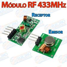 Modulo emisor y receptor RF 433MHz inalambrico control remoto receiver