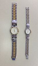 """Geneve """"Classic"""" His and Hers Matching Watches- Two-tone/Stainless Steel"""