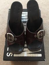 Morgan Chaussures - heeled brown buckle sandals - size EUR 39