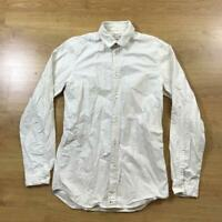 Paul Smith Small Red Ear White Classic Oxford Shirt Long Sleeved Plain READ DESC