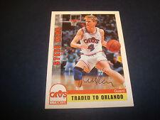 Steve Kerr Cavs Arizona Bulls 1992 NBA Hoops #365 Signed Authentic Autograph N13