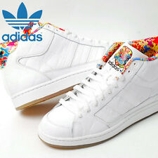 ADIDAS STAR WARS MID WHITE LEATHER SNEAKERS  US 11.5 EUR 45 NEW  RARE