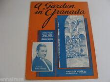 A Garden in Granada 1938 sheet music English/Spanish Lyrics by Lewis, Baer+